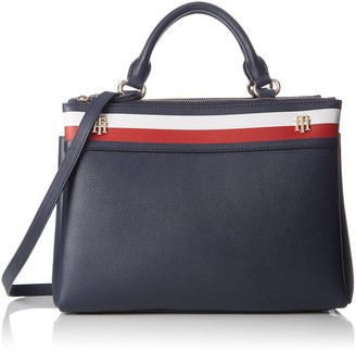 Tommy Hilfiger Cool Hardware Satchel Corp Womens Clutch