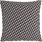 Lisa Perry Cubist Jacquard Pillow-BLACK