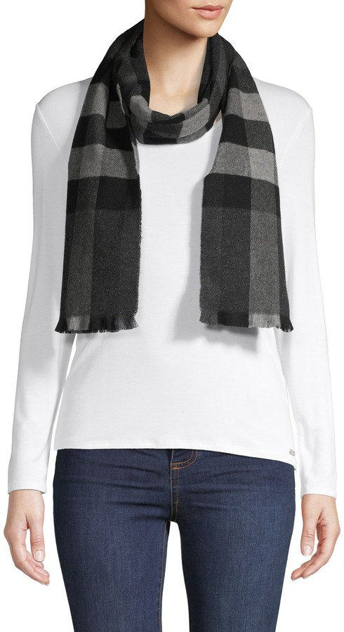 Burberry Wool and Cashmere Plaid Scarf