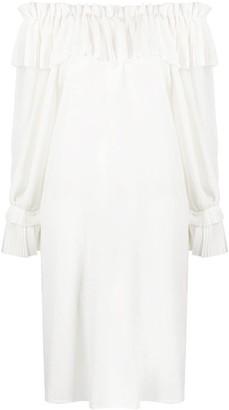 P.A.R.O.S.H. Off-Shoulder Ruffle Dress