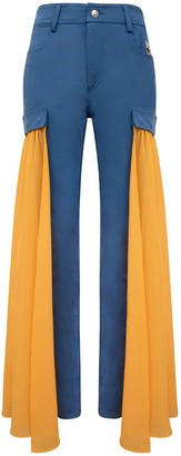 Blonde Gone Rogue Wildflower Skinny Jeans - Orange Detachable Veil