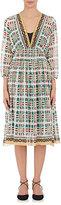 Giada Forte Women's Azulejo Floral Cotton-Silk Midi-Dress