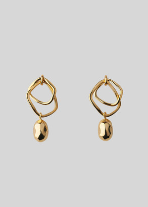Double Hoop Hammered Earring