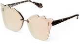 Vivienne Westwood Oversized Cut Out Sunglasses Black -One Size