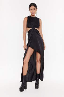 Nasty Gal Womens Love a Good Plot Twist Maxi Dress - black - 12