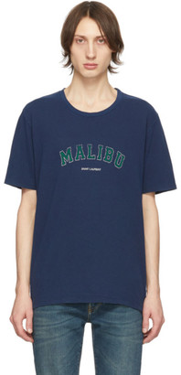 Saint Laurent Navy Malibu T-Shirt