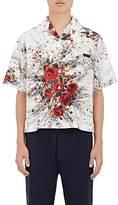 Prada Men's Bouquet-Print Cotton Bowling Shirt