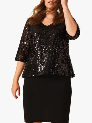 Studio 8 Lottie Sequin Dress, Black