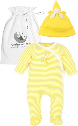 Under the Nile Banana Organic Egyptian Cotton Footie & Beanie Set
