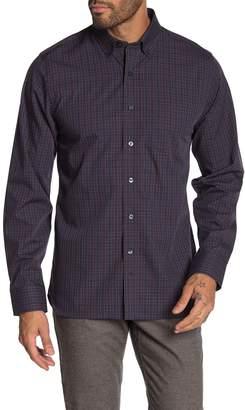 Hickey Freeman Greenwich Yarn Dye Plaid Print Regular Fit Sport Shirt