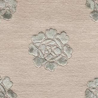 "Martha Stewart Rugs Medallions Hand-Knotted Silk/Wool Aqua/Marine Area Rug Rugs Rug Size: Rectangle 5'6"" x 8'6"""