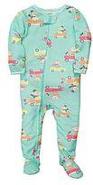 Carter's Monkey Car Footed Pajamas - Girls 12m-24m