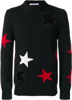 Givenchy Stars Printed Wool Crewneck Sweater
