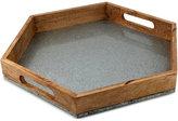 Thirstystone Wood & Galvanized Iron Hexagon Handled Tray