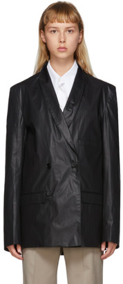 Lemaire Black Double-Breasted Jacket