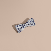 Burberry Umbrella Motif Metallic Silk Bow Tie