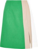 Jonathan Saunders Marisa color-block wool-gabardine skirt