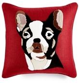 """Home Design Studio Home Design Studio Frenchie 18"""" Square Decorative Pillow"""