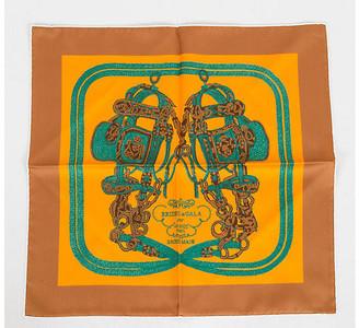 One Kings Lane Vintage Hermes Brides de Gala Silk Pouchette - Vintage Lux - moutard, yellow