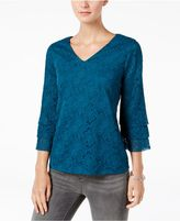 Charter Club Tiered Lace Top, Created for Macy's