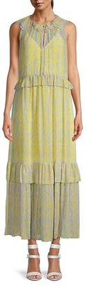 Diane von Furstenberg Ruffled Maxi Dress