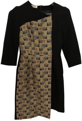 Tata-Naka Black Wool Dress for Women