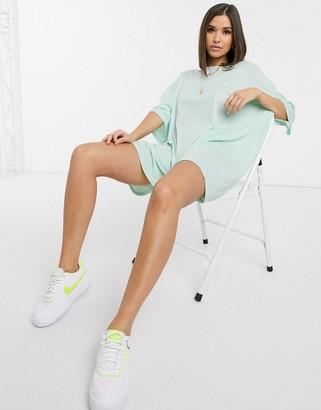 ASOS DESIGN oversized t-shirt dress in green