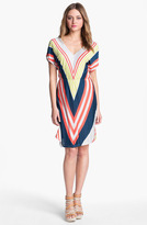 Nordstrom FELICITY & COCO V-Neck Chevron Stripe Jersey Dress Exclusive)