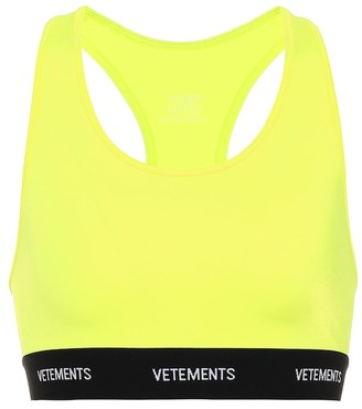 Vetements Logo sports bra