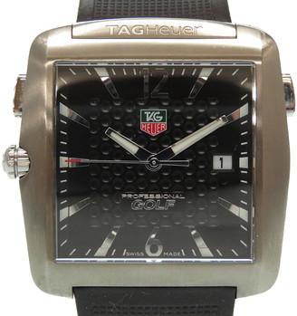 Tag Heuer Black Titanium and Rubber Professional Golf Wae 1116.Ft6004 Quartz Men's Wristwatch 36MM