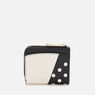 Kate Spade Women's Minnie Mouse Small Bifold Wallet - Black Multi