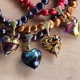 Murano Bish Bosh Becca Pearl Necklace With Vivid Hearts