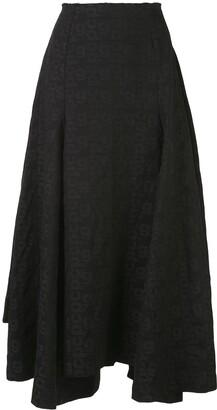 Comme des Garcons Logo Print Full Skirt