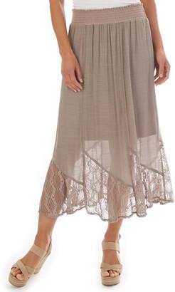 Apt. 9 Petite Lace-Trim Gauze Midi Skirt