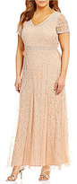 Pisarro Nights Plus Beaded Lace Gown