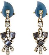 Oscar de la Renta Crystal & Resin Embellished Drop Earrings