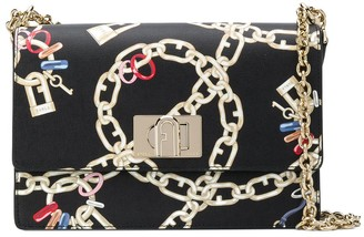 Furla Chain Print Shoulder Bag