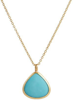 Gurhan 24kt and 22kt gold Rune pendant necklace