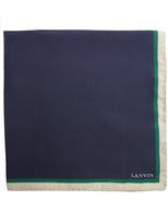 Lanvin Contrast-edge silk pocket square