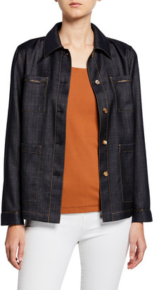 Lafayette 148 New York Esmeralda Mercantile Cloth Button-Front Jacket