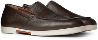 Ermenegildo Zegna Textured-Leather Loafers