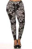 NioBe Women's Plus Size Fashion Design Leggings (Brushstrokes)