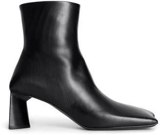 Balenciaga Moon Square-Toe Ankle Boots