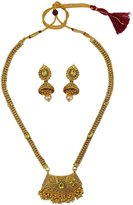 Matra Traditional Bollywood Goldtone Indian 2 Pcs Necklace Set Bridal Women Jewelry