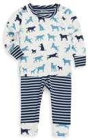 Hatley Baby's and Toddler's Two-Piece Puppy Play Mini Pajama Cotton Set