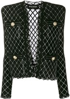 Balmain tweed knitted blazer
