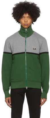 Ami Alexandre Mattiussi Green and Grey Zippered Sweater