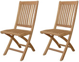 Tropico Folding Chairs - Set of 2 - Anderson Teak - natural