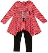 Jessica Simpson Baby Girls 12-24 Months Sparkle Long-Sleeve Top & Leggings Set
