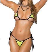 Sherrylo Sexy Small Scrunch Butt Bikini 2pc Black Micro thong Bikinis Set